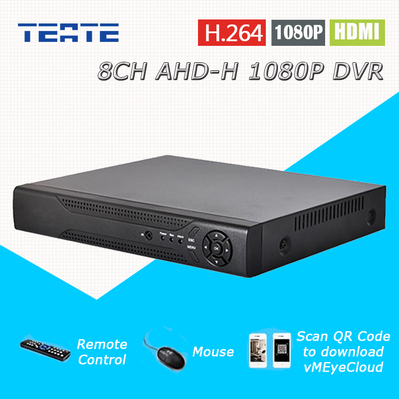 TEATE 8ch CCTV System AHD 1080P surveillance DVR NVR 8 channel AHD-H HDMI Standalone security WIFI video recorder T-G08D10PB08 defeway 1080n hdmi surveillance video recorder 8 ch ahd dvr network p2p nvr for ip camera 8 channel cctv security system no hdd