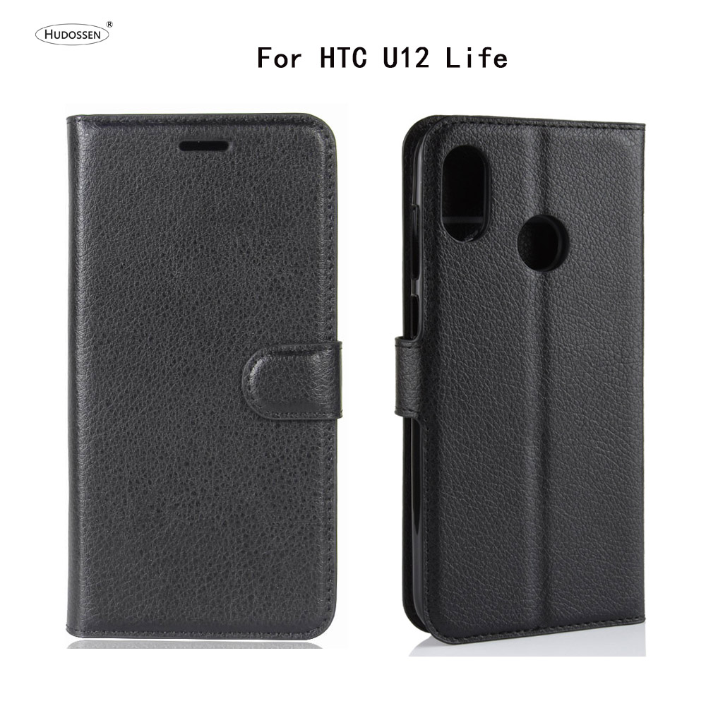 HUDOSSEN For HTC U12 Life Case Luxury Phone Protective Case Coque For HTC U12 Life Flip Cover Wallet Leather Bags