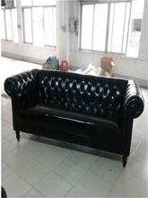 High quality cow top graded real genuine leather sofa/living room sofa furniture American style love seat 2 seater postmodern