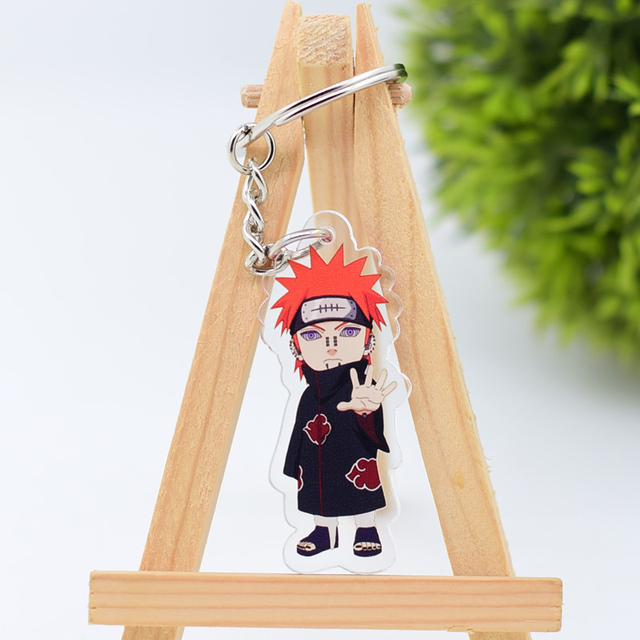 2019 Naruto Keychain Sasuke/itachi/Kakashi Double Sided Acrylic Key Chain Pendant Anime Accessories Cartoon Key Ring 3