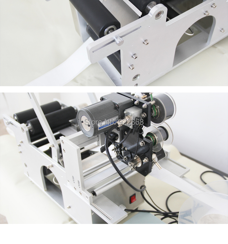 HTB19PscXsfrK1RjSszcq6xGGFXay - manual round bottle labeling machine with date printing machine for PET,plastic,glass and metal bottle