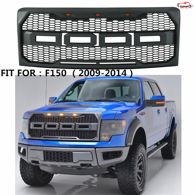 Citycarauto Front Racing F 150 Grill Grille Abs Black Front Trim