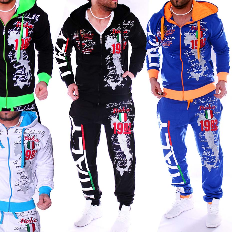 Zogaa Casual Suit Men Winter Sportwear Sets Tracksuit Men Brand Clothing Streetwear Tops Tees+Shorts Fashion Camisetas Hombre