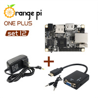Orange Pi One Plus SET12: OPI One Plus &  Power Adapter & HDMI to VGA Cable