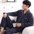 2016 outono marca casais causal homewear conjuntos de pijama dos homens polar fleece sleepwear terno masculino gola redonda camisas + calças