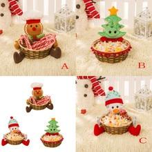 Рождественская корзина для хранения конфет украшение корзина для хранения Санта Клауса Подарок Рождественское украшение Рождественская корзина для хранения конфет