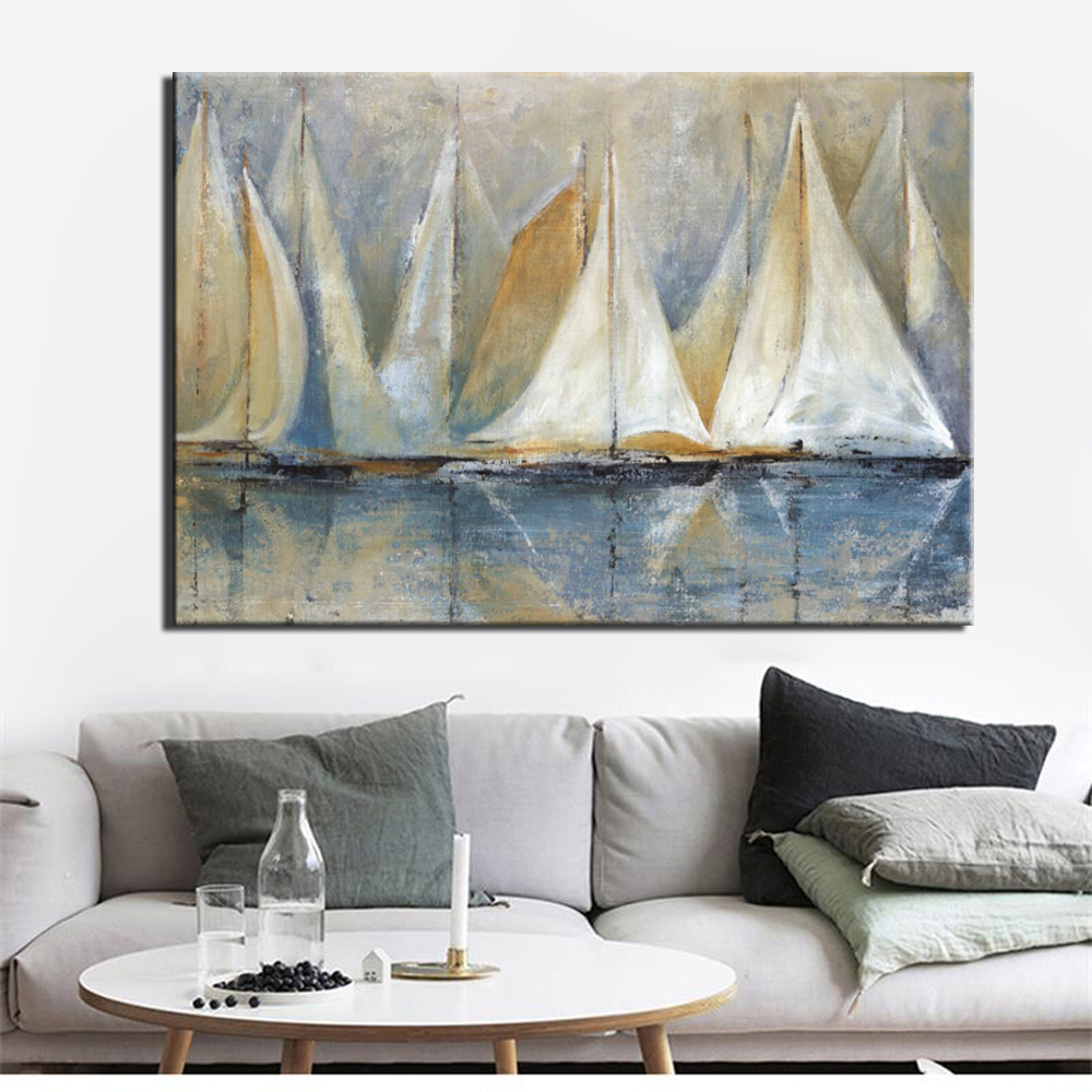 SHIP SEASCAPE QUALITY CANVAS PRINT PICTURE MODERN WALL ART READY TO HANG