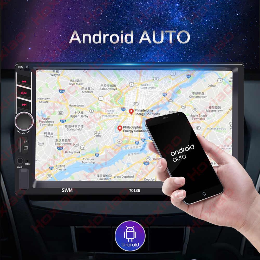 "Carplay Android の自動 2 喧騒車のラジオタッチスクリーンプレーヤーミラーリンク MP5 SD/FM/USB/AUX /Bluetooth 7 ""HD カーオーディオ 2DIN"