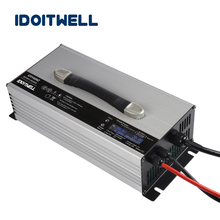 Customized 1500W 60V 19A series automatic battery charger smart LCD display 60 volt battety charger with Overcharge protection