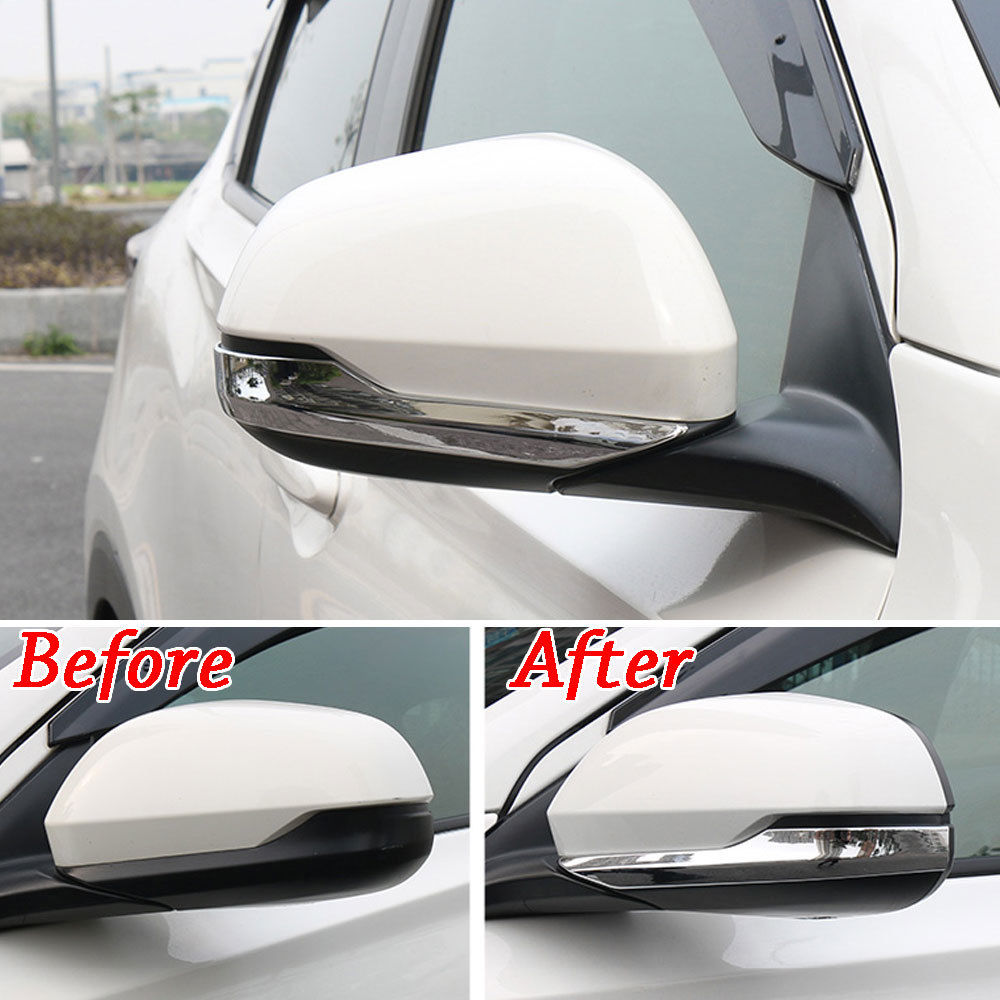 Fit For Honda HR V HRV Vezel 2015 2017 Chrome ABS Car Rear View Side Mirror Cover Molding Trim Protector Car Styling in Chromium Styling from Automobiles Motorcycles