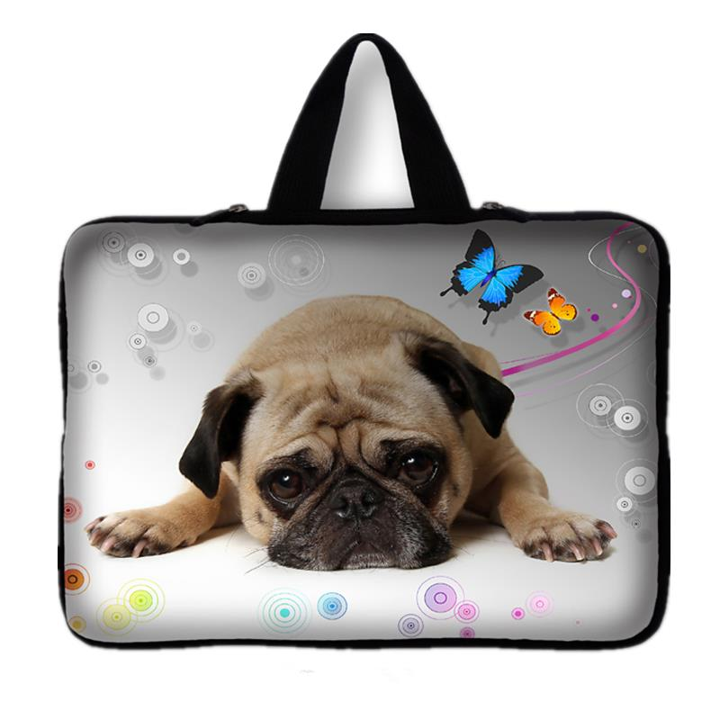 15 15.4 15.5 15.6 Cute Pug Laptop Notebook Computer Sleeve Bag Case Pouch + Handle For Dell Vostro Hp Pavilion Lenovo Asus