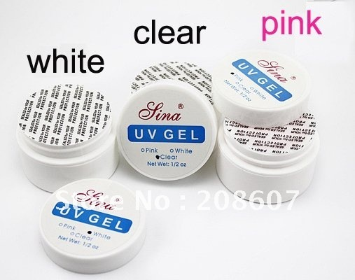 Freeshipping SINA UV Builder Gel For Creating Fantastic Crystal / Acrylic French Nail Effect,Clear,White,Pink UV GEL,1/2 oz/pcs