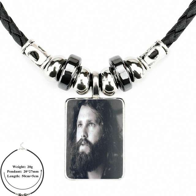 228f0e7a799c0 US $1.89 |EJ Glaze Jim Morrison Doors Abstract Art For Women Wedding  Vintage Jewelry Black Leather Bead Pendant Glass Cabochon Necklace-in  Pendant ...