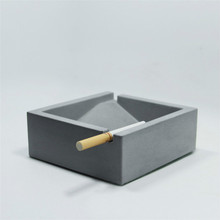 Simple Modern Sqaure Cement Ashtray Mold Silicone Concrete Mould