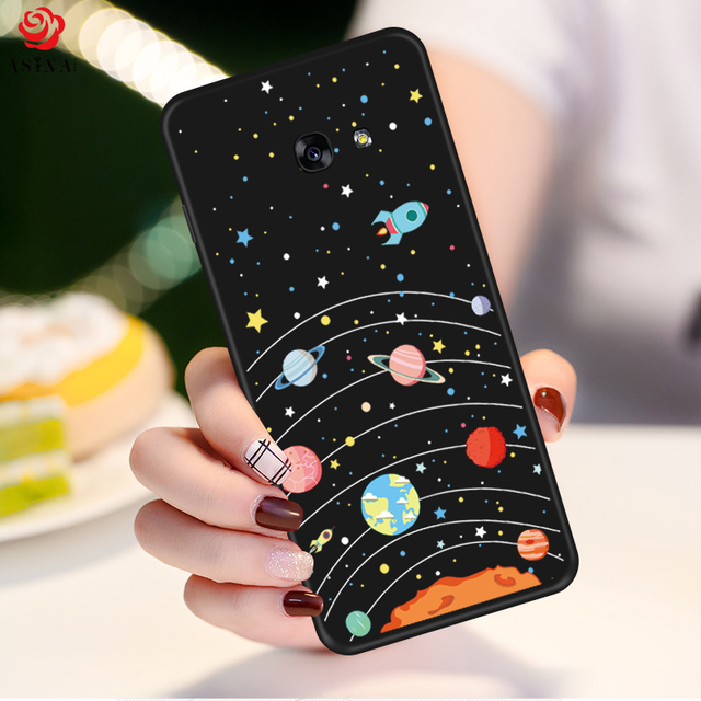 ASINA Soft Silicone Cases For Samsung Galaxy A5 2017 Cartoon Cute 3D Cover For Galaxy S8 S9 Plus A8 J7 J8 2018 Note 9 8 Bumper
