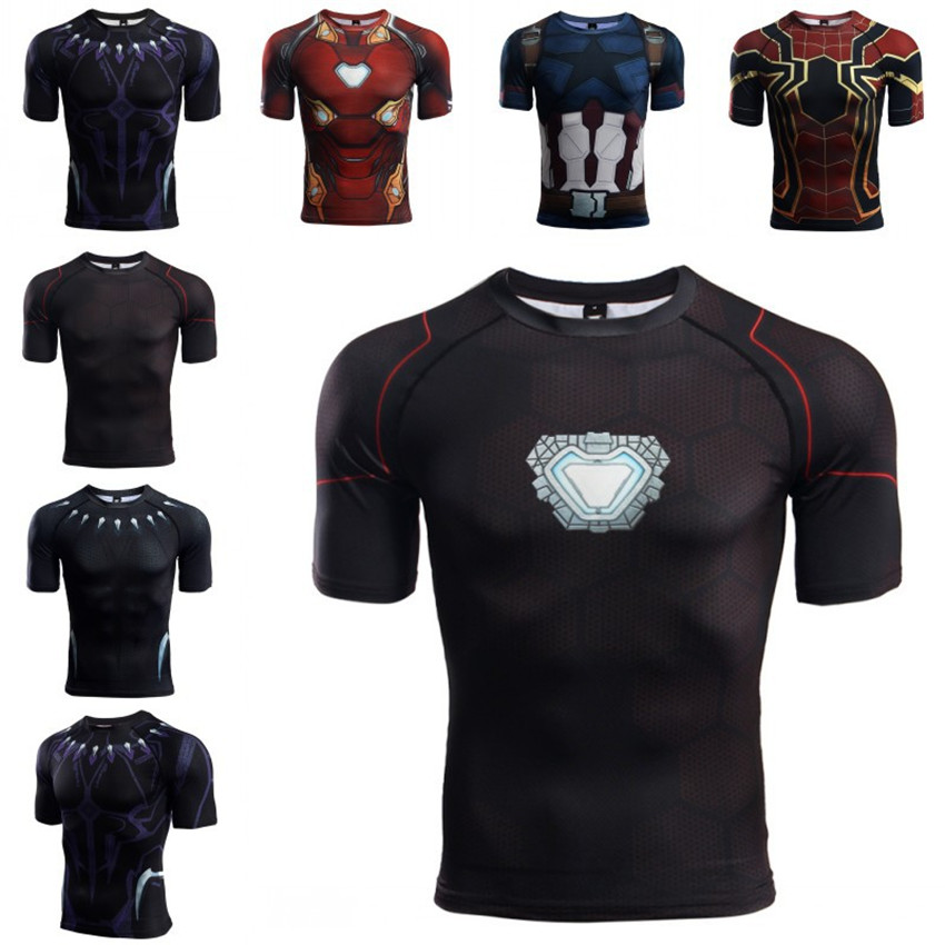 01ad85e946f5fa Avengers 3 infinity war Captain America 3D Printed T shirts Men Compression  Shirt Cosplay Short Sleeve Crossfit Tops tshirt Male-in T-Shirts from Men's  ...