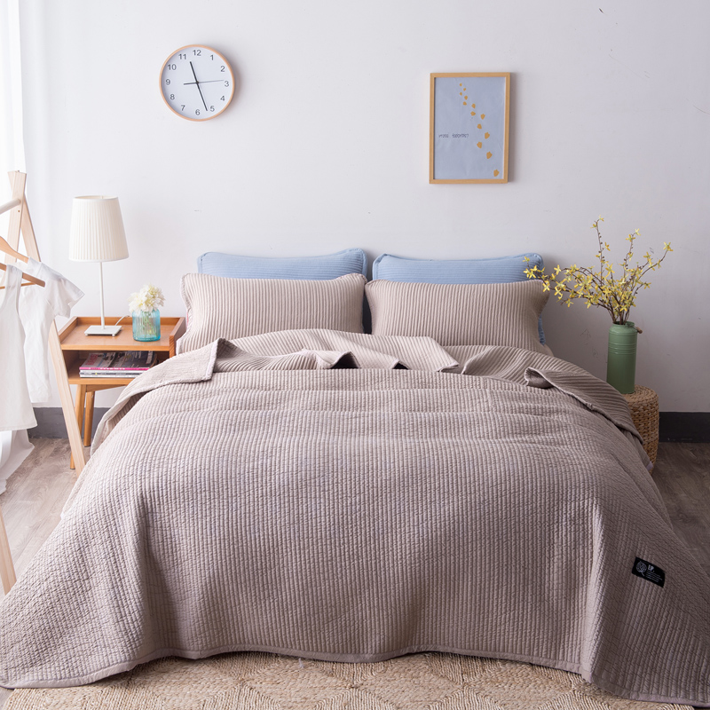 Famvotar Solid Color 3 Piece Quilted Bedspread Fancy