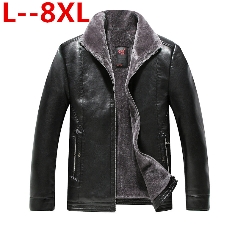 Мужская короткая зимняя куртка из натуральной овечьей кожи, большие размеры 8XL 6XL 5X, новинка 2018