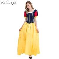 Schneewittchen Kleid Halloween Cosplay Kostüm Frauen Sexy Fantasien Prinzessin Disguise Langes Kleid Stage Performance Partei Phantasie