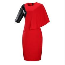 2018 Spring Fashion Dress Elegant women's Dress  O-Neck Elegant  Pencil Office Dress Plus Size 5XL 6XL Women Clothing Vestidos