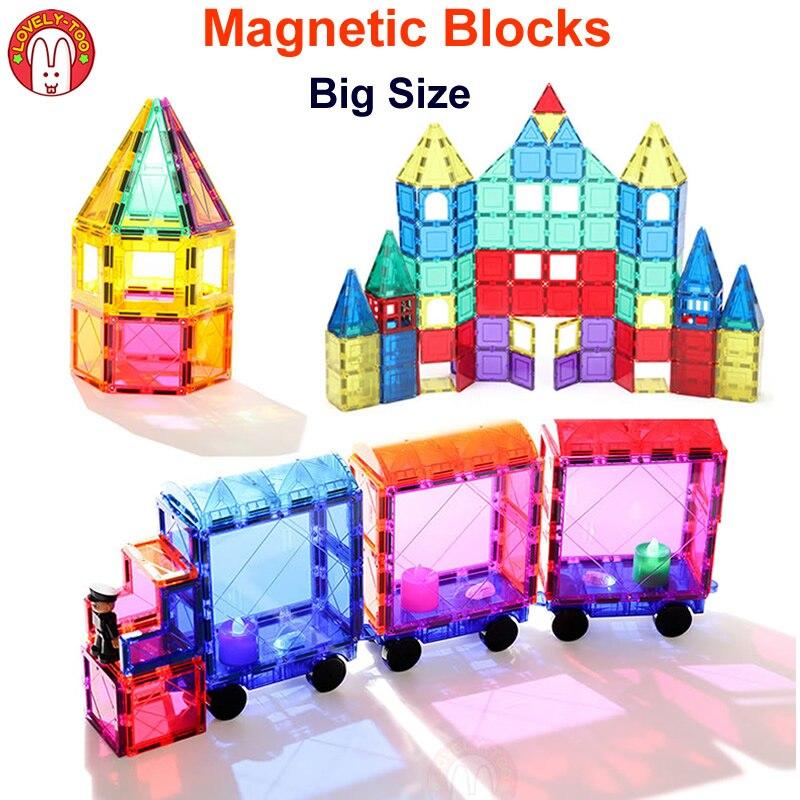 Blocs magnétiques Briques De Construction Magnétiques Carreaux Concepteur De Jeux Jeu De Construction Magnétique Jouet Modèle Jouets Éducatifs Pour Enfants