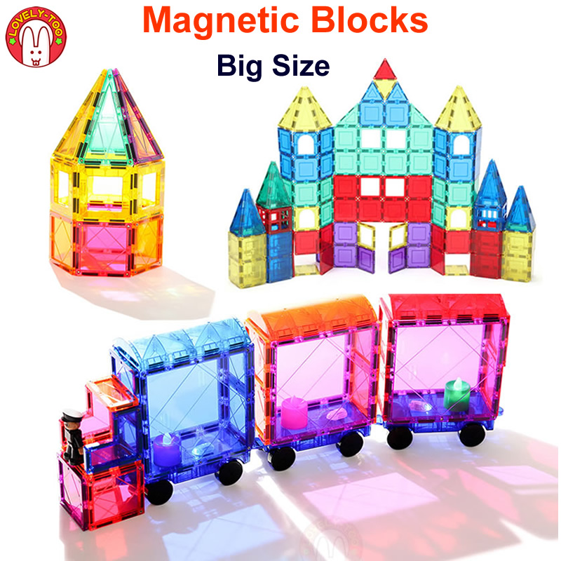 Magnetic Blocks Building Bricks Magnetic Tiles Games Designer Construction Set Magnet Toy Model Educational Toys For Children 148pcs set standard magnetic designer toys construction building blocks 3d educational diy magnet bricks for kids children toy