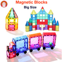 Magnetic Blocks Building Bricks Magnetic Tiles Games Designer Construction Set Magnet Toy Model Educational Toys For Children