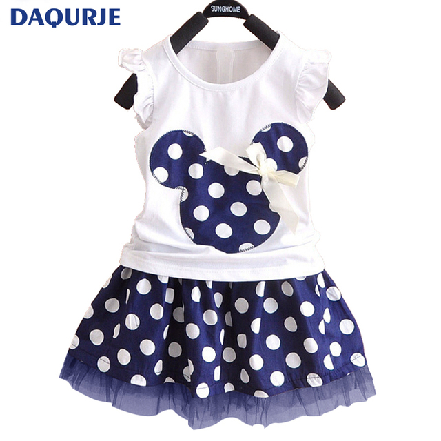 07777275d0fa 2018 korean kids clothes brands mickey minnie girls clothing sets baby girl  cartoon t-shirt