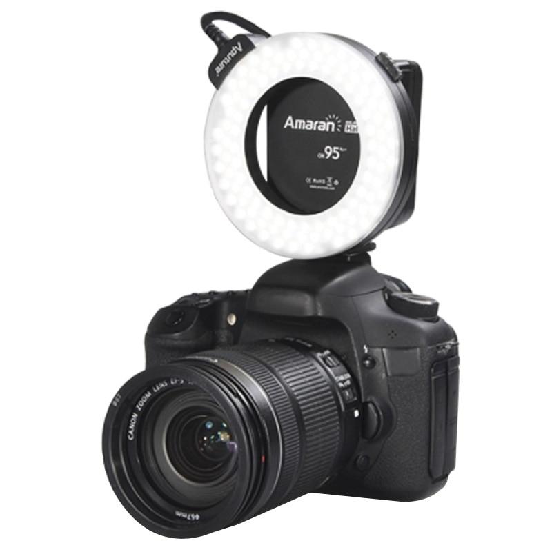 ФОТО Aputure AHL-HC100 Higher CRI 95+ Value Amaran Halo LED Ring Flash Light for Canon