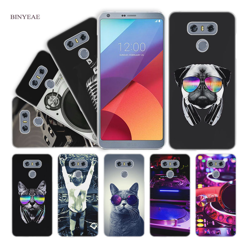 BINYEAE old dj music Hard Clear Case Cover for LG Q6 G6 Mini G5 SE G4 G3 V10 V20 V30