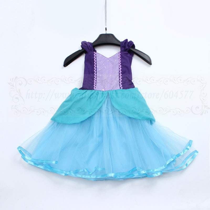 Dress Tutu Costume Girls Mermaid Princess Up Cosplay Fancy Party Little Kids New Ballet Girl