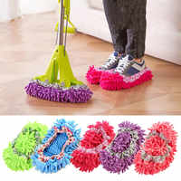2pc Dust Mop Slipper Lazy House Floor Polishing Cleaning Easy Foot Sock Shoe Cover Floor Cleaner Dust Mop Head