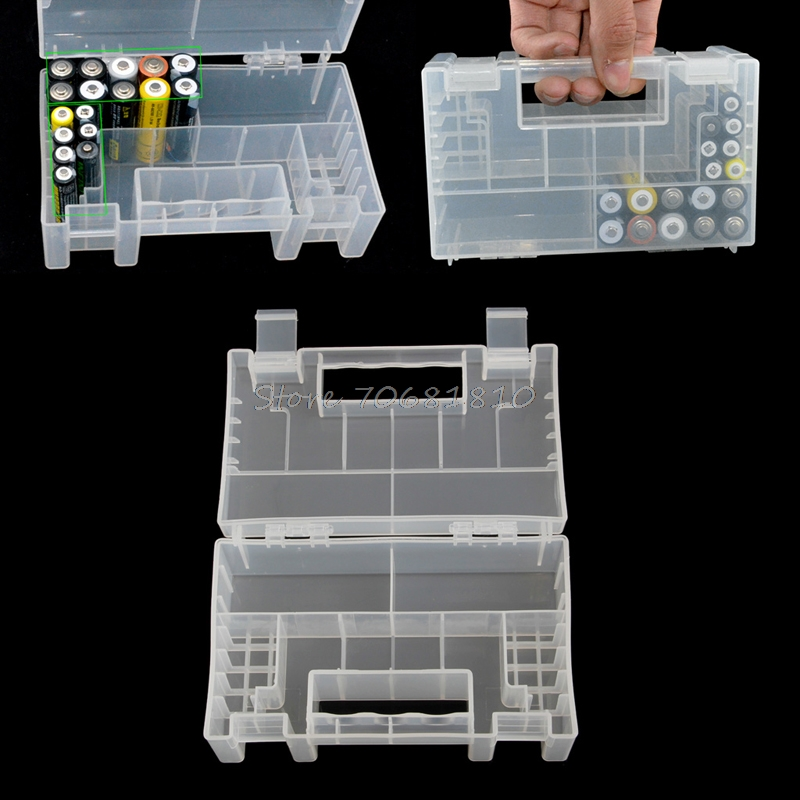Plastic Battery Storage Box Case/Organizer/Holder/Container For AAA AA Battery