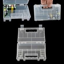 กล่องเก็บแบตเตอรี่พลาสติก/Organizer/ผู้ถือ/คอนเทนเนอร์สำหรับ AAA AA แบตเตอรี่