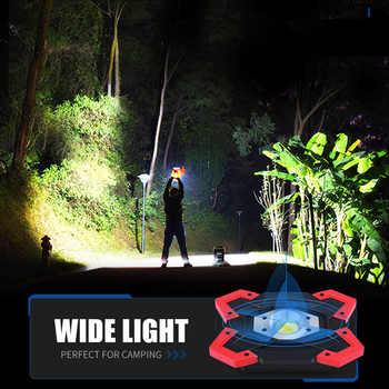 SHENYU LED Camping Lantern Tent Flashlight 10w 12v USB Rechargeable Power Bank Searchlight 18650 Battery Spotlight Portable Lamp