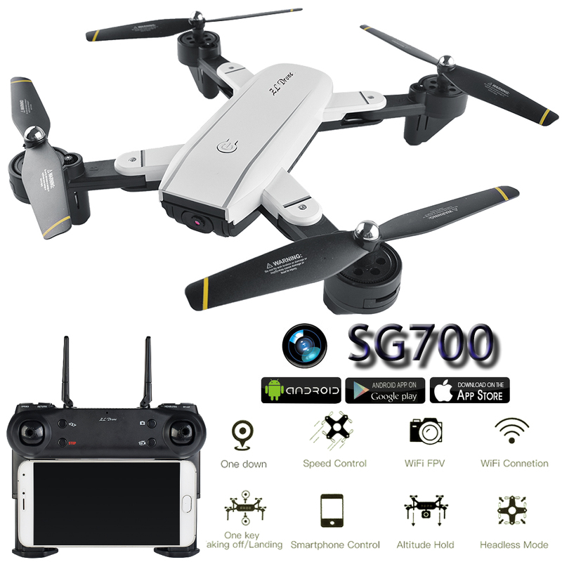 SG700 Camera Drone With Camera HD Dron Optical Flow Positioning Quadrocopter Altitude Hold FPV Quadcopters Folding RC Helicopter Квадрокоптер