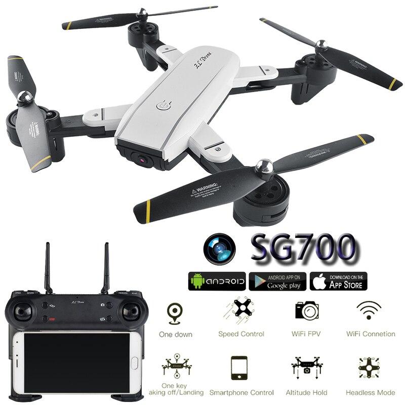 SG700 Caméra Drone Avec Caméra HD Dron Flux Optique Positionnement Quadrocopter Maintien D'altitude FPV Quadricoptères Pliant RC Hélicoptère