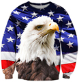 animal design sweatshirt 3D Eagle/American flag full printing hoodie harajuku outerwear pullovers fashion 3d clothes