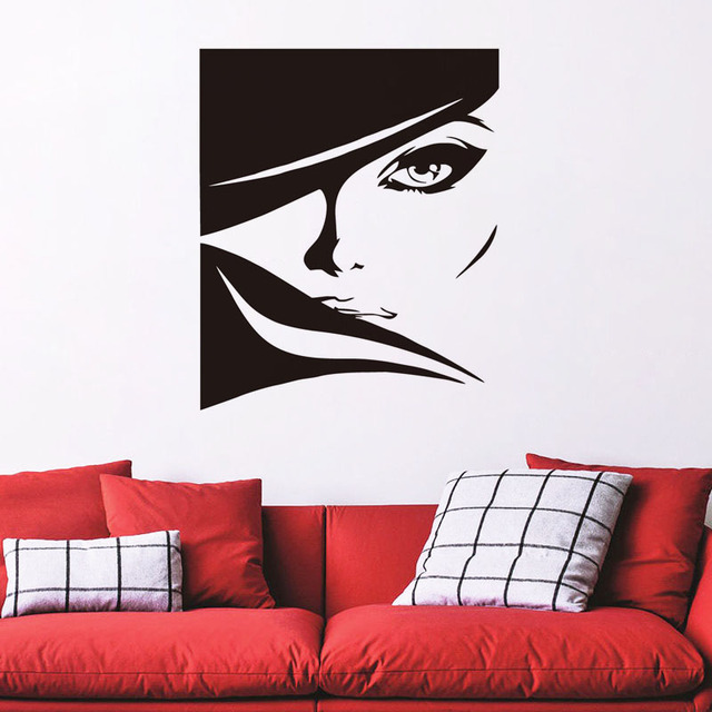 Aliexpresscom Buy Beautiful Lady With Bright Eyes Vinyl Wall - Vinyl stickers designaliexpresscombuy eyes new design vinyl wall stickers eye wall