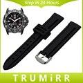 De Caucho De silicona Venda de reloj 20mm 22mm 23mm 26mm para Luminox Hombres Mujeres Reloj de Acero Inoxidable Hebilla correa de Pulsera de la Pulsera Negro