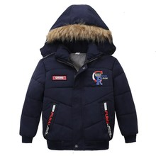 Baby Boys Coat 2019 Winter Jacket For Boys Fashion Hoodies Children Coat Boys clothes Jackets Warm Outerwear for kids clothes cheap KEAIYOUHUO Polyester COTTON E869 Full Letter Hooded REGULAR Fits true to size take your normal size Thin (Summer) Outerwear Coats