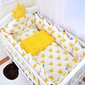 2017 New Arrival 100% Cotton Baby Bedding Sets Cute Cartoon Crown Bumpers In The Crib Bedding Sets Protector Of Baby Cribs EX009