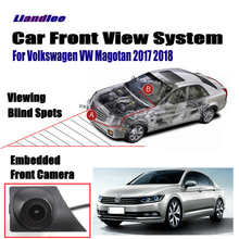 Liandlee Car Front View Camera Grill Embedded For Volkswagen VW Magotan 2017 2018 / 4.3 LCD Screen Monitor Cigarette Lighter