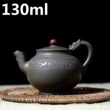 Teteras de Arcilla púrpura 130 ML Cerámica Zisha de Yixing Teteras Chinas Mineral De la Tetera De Barro hecho a mano Tetera Tetera Kung Fu Conjunto porcelana