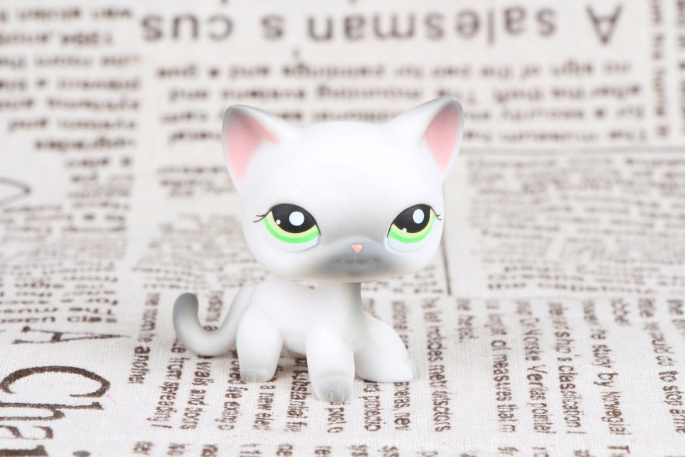 New Pet Collection Figure LPS #125 Siamese Short Hair Kitty GREY CAT Figure Kids Toys lovely pet collection lps figure toy black yellow short hair siamese cat blue eyes nice gift kids