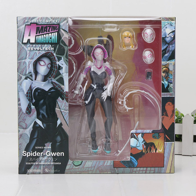 15 cm The Avengers Superhero Spider Gwen Stacy NO. 004 Incrível PVC Action Figure Collectible Modelo Toy