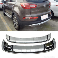 AITWATT For Kia Sportage R 2011 2012 2013 2014 High Quality ABS Plastic Front And Rear Bumper Cover Trim Car Styling Accessories