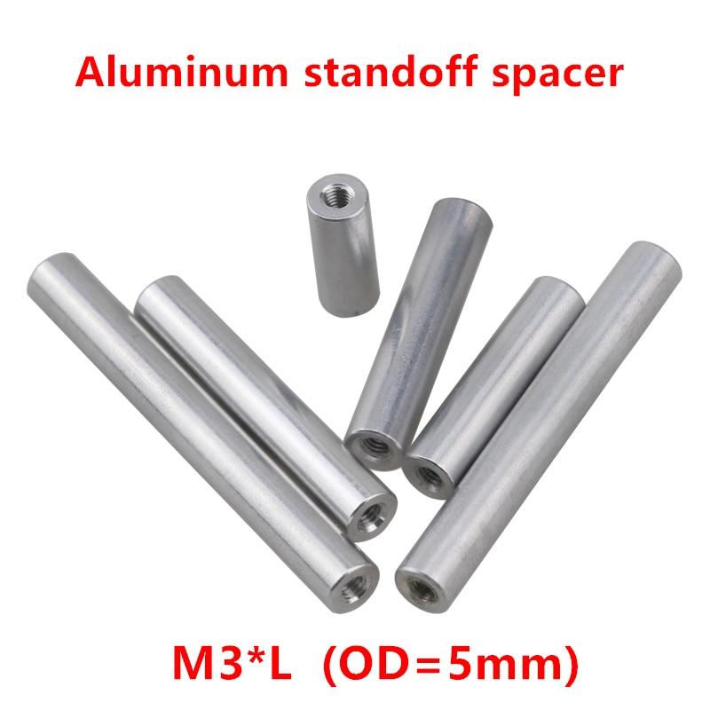 10 Pcs M3 Aluminium Studs M3 * 6/8/10/12/15/20/25 /30/35/37/40/50mm Aluminium Ronde Standoff Spacer Voor Rc Onderdelen Model