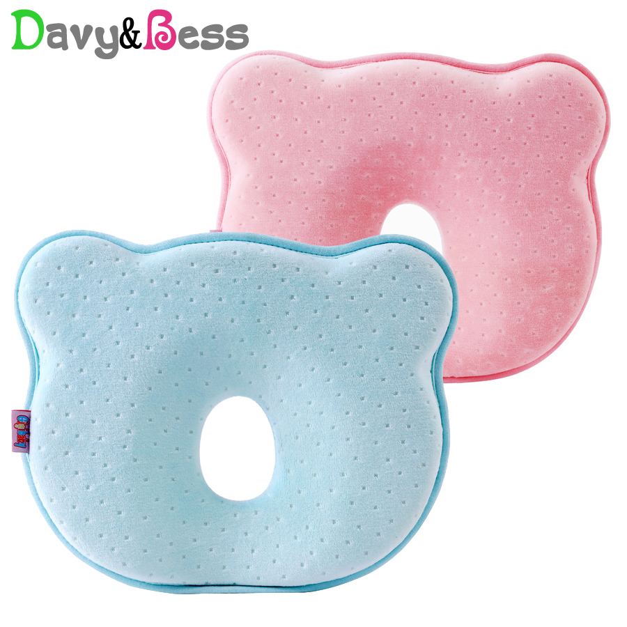 Anti Flat Head Baby Pillow Newborn Memory Foam Infant Baby Head Cushion Support Anti Roll Shaping Pillow For Baby Neck Subject