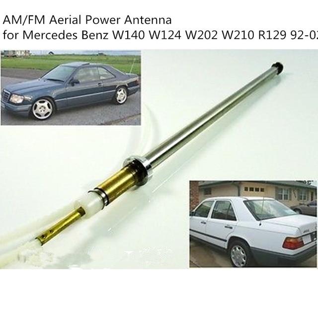 CARCHET רכב כוח אנטנת תורן נירוסטה כבל AM/FM אווירי כוח אנטנה עבור מרצדס בנץ W140 W124 W202 w210 R129 92 02